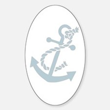 Nautical Anchor Oval Decal