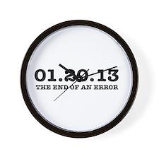 Last Day 1/20/2013 January 20, 2013 Wall Clock