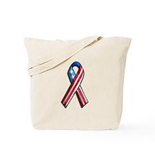 American Flag 3D Ribbon 1 Tote Bag