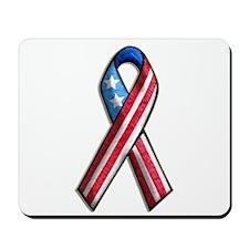 American Flag 3D Ribbon 1 Mousepad