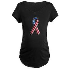 American Flag 3D Ribbon 1 T-Shirt