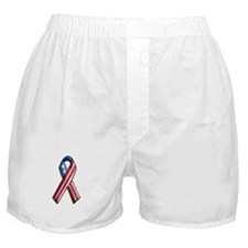 American Flag 3D Ribbon 1 Boxer Shorts