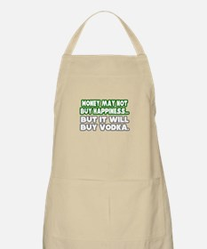 """Money, Happiness, Vodka"" BBQ Apron"