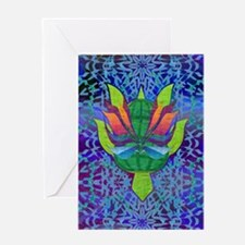 Flying Turtle Greeting Card
