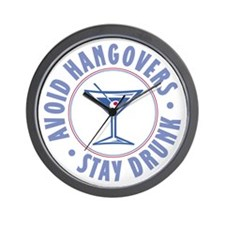Avoid Hangovers - Wall Clock
