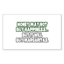 """Money Buys Margaritas"" Rectangle Decal"