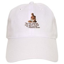 Gandhi Quote Be the Change Baseball Cap