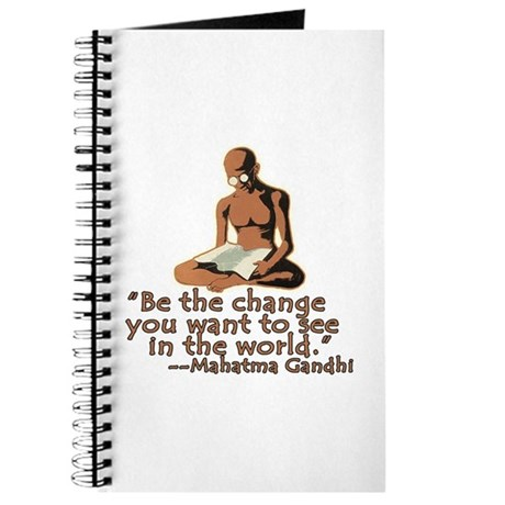 Gandhi Quote Be the Change Journal