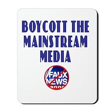 Boycott Mainstream Media Mousepad