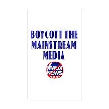 Boycott Mainstream Media Rectangle Decal