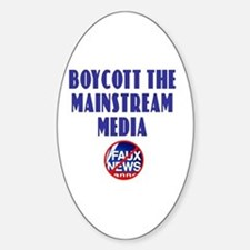 Boycott Mainstream Media Oval Decal