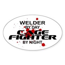 Welder Cage Fighter by Night Oval Decal