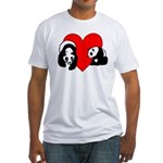 Panda Bear Love Fitted T-Shirt