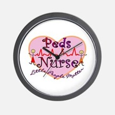 Funny Pediatric nurses Wall Clock