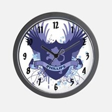 Phillips Family Crest Wall Clock