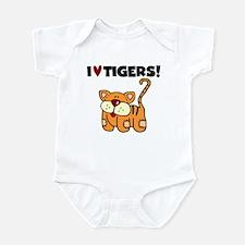 I Love Tigers Infant Bodysuit
