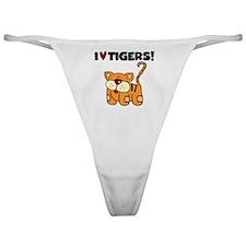 I Love Tigers Classic Thong