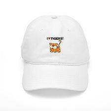 I Love Tigers Baseball Cap