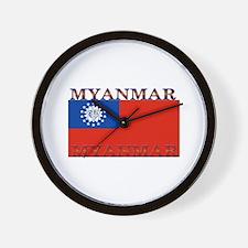 Myanmar Wall Clock