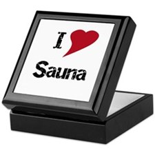 I Love Sauna Keepsake Box