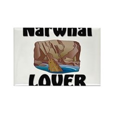 Narwhal Lover Rectangle Magnet