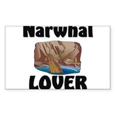 Narwhal Lover Rectangle Decal
