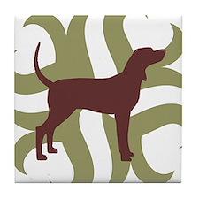 Coonhound Tribal Tile Coaster