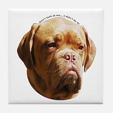 Dogue De Bordeaux Tile Coaster