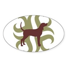 Coonhound Tribal Oval Decal