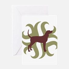 Coonhound Tribal Greeting Card