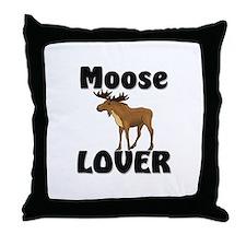Moose Lover Throw Pillow