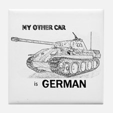 Cute Wehrmacht Tile Coaster