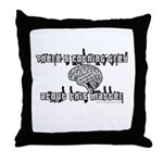 Nothin Grey About This Matter Throw Pillow