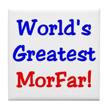 World's Greatest Morfar Tile Coaster