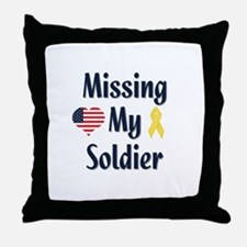 Missing My Soldier Throw Pillow