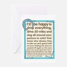 Farrier's Lament Greeting Card