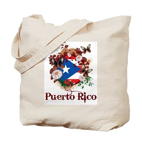Butterfly Puerto Rico Tote Bag