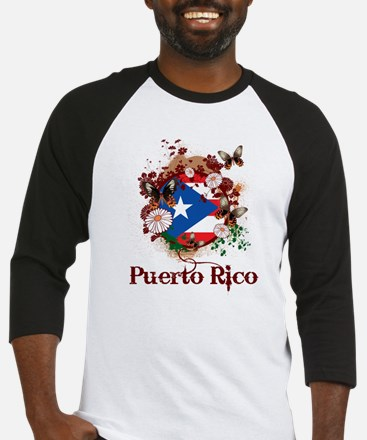 Butterfly Puerto Rico Baseball Jersey