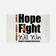Hope, Fight Win (Leukemia) Rectangle Magnet