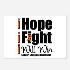 Hope, Fight Win (Leukemia) Postcards (Package of 8