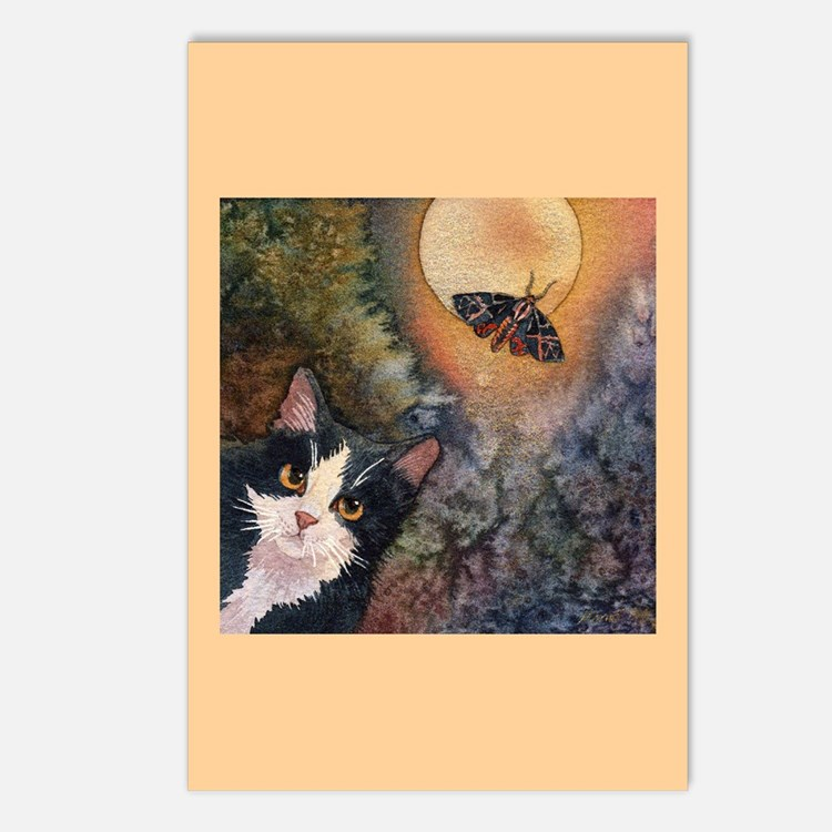 Tuxedo Cat, Moonlight, and Mo Postcards (Package o