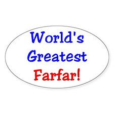 World's Greatest Farfar Oval Stickers