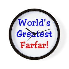 World's Greatest Farfar Wall Clock