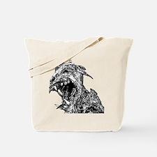 black and white chupacabra Tote Bag