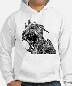 black and white chupacabra Jumper Hoody