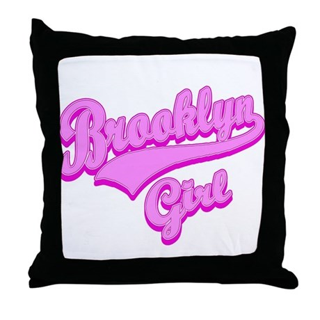 Brooklyn Girl Throw Pillow