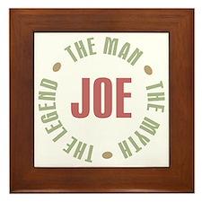 Joe Man Myth Legend Framed Tile