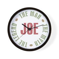 Joe Man Myth Legend Wall Clock