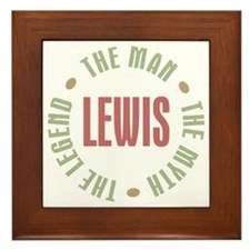 Lewis Man Myth Legend Framed Tile
