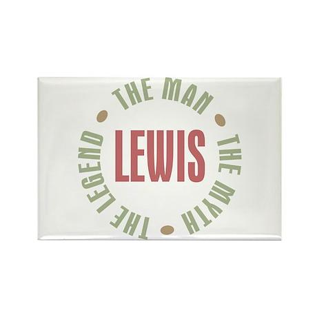 Lewis Man Myth Legend Rectangle Magnet (10 pack)